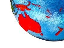 L'Australie sur terre 3D illustration stock