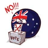 L'Australie votant non illustration stock