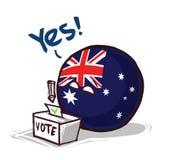 L'Australie votant oui illustration libre de droits
