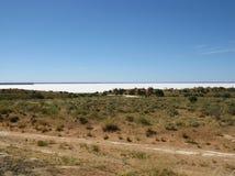 L'Australien à l'intérieur avec les lacs salins Photographie stock libre de droits