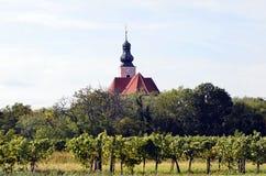 L'Austria, agricoltura in villaggio rurale Immagini Stock Libere da Diritti