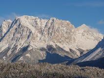 L'Austria, alpi tirolesi Strada al passaggio della felce Paesaggio meraviglioso subito dopo una caduta della neve Fotografia Stock Libera da Diritti