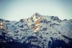 L'Austria, bello picco al tramonto Fotografia Stock Libera da Diritti