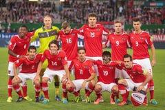 L'Austria contro il Belgio l'irlanda Fotografia Stock