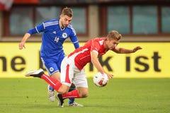 L'Austria contro il Belgio La Bosnia-Herzegowina Fotografia Stock