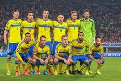 L'Austria contro il Belgio sweden Fotografie Stock