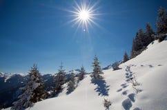 L'Austria - facendo un'escursione nelle alpi del heler del ¼ di Kitzbà Fotografia Stock Libera da Diritti