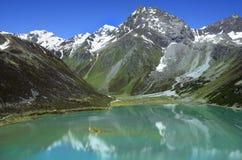 L'Austria, il Tirolo, alpi e lago della montagna Fotografia Stock Libera da Diritti