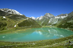 L'Austria, il Tirolo, alpi e lago della montagna Immagine Stock Libera da Diritti