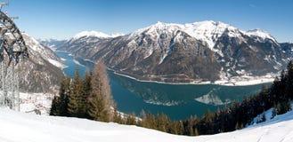 L'Austria, lago Achensee nell'inverno Immagini Stock Libere da Diritti