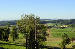 L'Austria, Muehlviertel, agricoltura Fotografia Stock