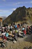 L'Austria: Ristorante Hochfirst della montagna in valle di Montafon immagini stock