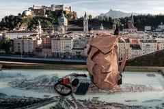 l'austria Salisburgo Preparazione per il viaggio, derisione di turismo Fotografie Stock Libere da Diritti