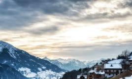 L'Austria Scenics nell'inverno Immagini Stock Libere da Diritti
