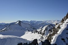 L'Austria, Tirolo, alpi Immagini Stock