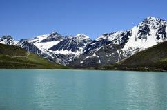 L'Austria, Tirolo, lago Rifflsee Fotografie Stock
