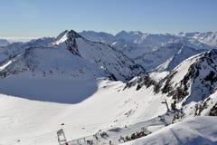 L'Austria, Tirolo, Wintersport Fotografie Stock Libere da Diritti