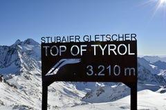 L'Austria, Tirolo, Wintersport Fotografia Stock Libera da Diritti