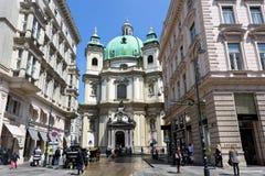 L'AUSTRIA, VIENNA - 14 MAGGIO 2016: Vista della foto fotografia stock libera da diritti