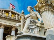 L'Austria, Vienna, Parlamento fotografia stock