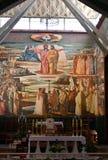 L'autel dans la basilique de l'annonce photographie stock libre de droits