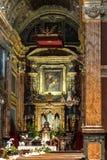 L'autel de l'église de SanTa Cristina à Turin Image libre de droits