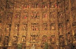 L'autel de la cathédrale de Séville photo stock