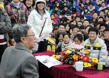L'auteur célèbre Wang Meng Images libres de droits