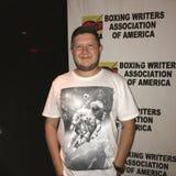 L'auteur de B est pour le dîner étant présent de boxe d'auteurs de boxe chez Copacabana Photos libres de droits