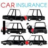 L'autista di automobile sbatte sopra i freni royalty illustrazione gratis