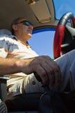 L'autista nell'automobile Fotografia Stock Libera da Diritti