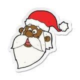 l'autoadesivo di un fumetto il Babbo Natale allegro affronta royalty illustrazione gratis