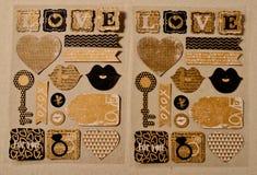 L'autocollant exprime la collection pour l'amour Images stock
