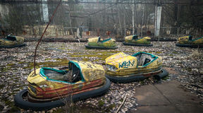 L'autodrome des enfants dans Pripyat Image stock