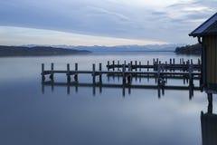 L'automne au lac Starnberger voient, l'Allemagne Photo stock