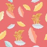 L'automne coloré répand modèle sans couture de vecteur Motif de forêt illustration libre de droits