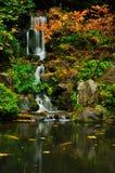l'automne colore la cascade à écriture ligne par ligne photographie stock libre de droits