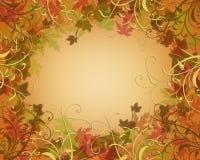 L'automne d'automne d'action de grâces laisse le cadre Images stock