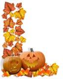 L'automne de cadre d'automne laisse des potirons illustration stock