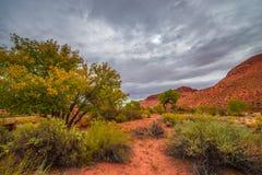L'automne dramatique de nuages colore le paysage de l'Utah Image libre de droits