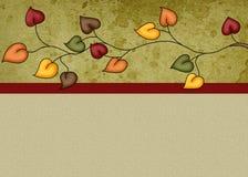 L'automne laisse le fond Photo libre de droits