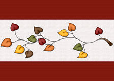 L'automne laisse le fond Image libre de droits