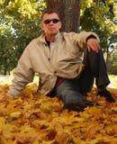 L'automne/se refroidissent mais pas la troupe Photos libres de droits