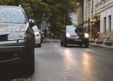L'automobile è parcheggiata in maltempo Fotografia Stock Libera da Diritti