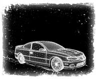 L'automobile è progettata. Vettore Fotografia Stock