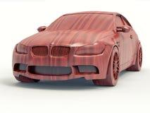 l'automobile di legno 3D rende Fotografia Stock