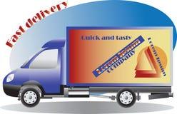 L'automobile digiuna la consegna Servizio, ordine Trasporto in tutto il mondo illustrazione di stock