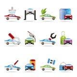 L'automobile e l'automobile assistono l'icona Fotografia Stock Libera da Diritti