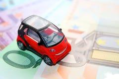 L'automobile ed i soldi Fotografia Stock