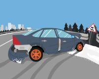 L'automobile ha slittato Fotografie Stock